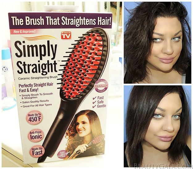 From Drab to Fab: Simply Straight™ Ceramic Hair Straightening Brush Review & Tutorial, PLUS ENTER TO WIN ONE!