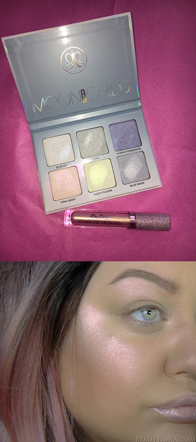 Anastasia Beverly Hills Moonchild Glow Kit Swatches & Look // Pink Heart