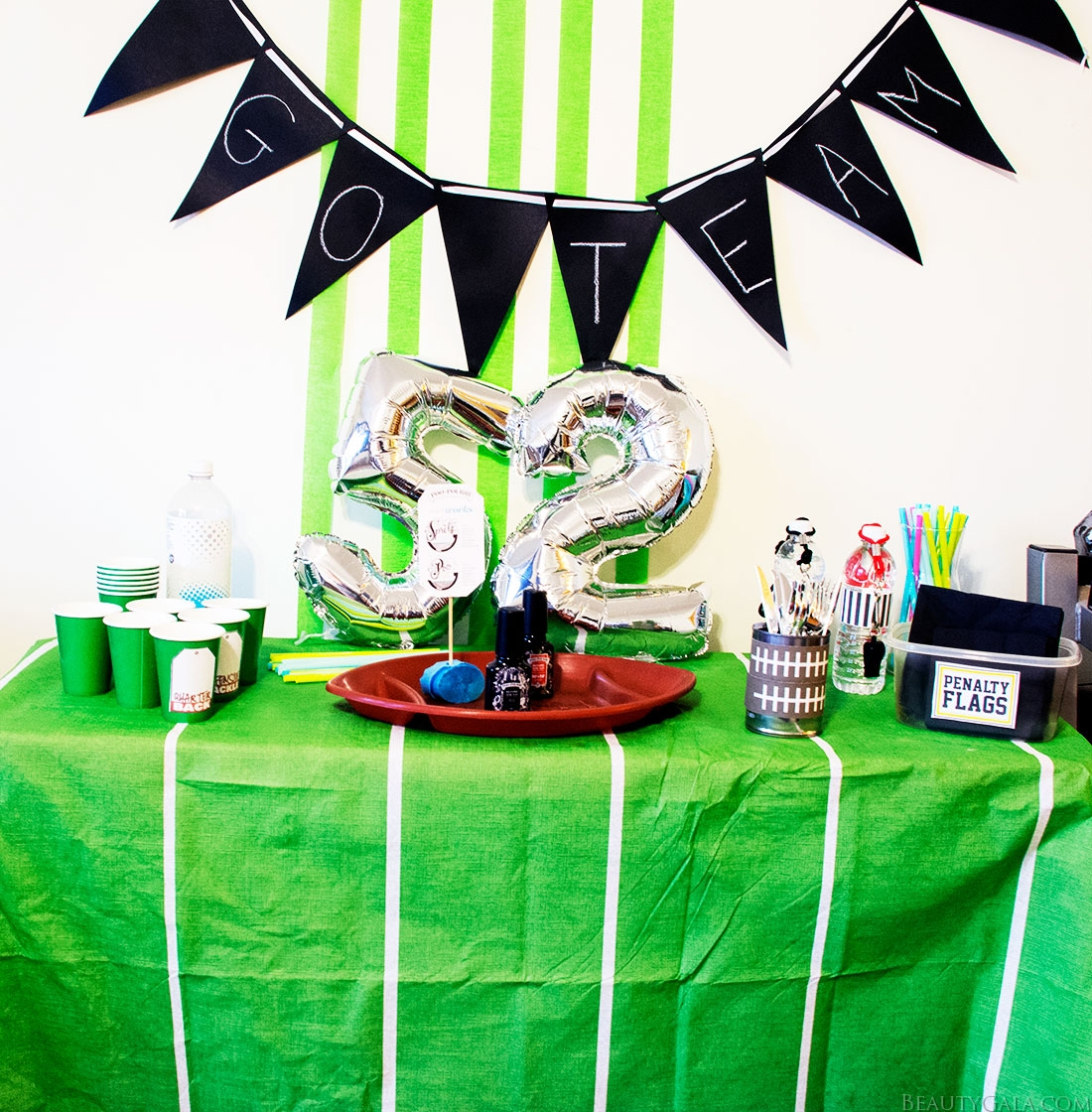 superbowl decor, superbowl party ideas, diy superbowl party, diy superbowl decor, poo~pourri
